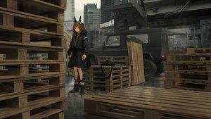 Rating: Safe Score: 52 Tags: 3d animal_ears boots brown_eyes brown_hair building city combat_vehicle hoodie industrial lm7_(op-center) long_hair original scenic socks User: Dreista