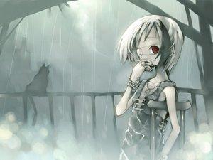 Rating: Safe Score: 75 Tags: bikko black_hair cigarette eyepatch kei_(artist) original scar short_hair white_hair User: Oyashiro-sama