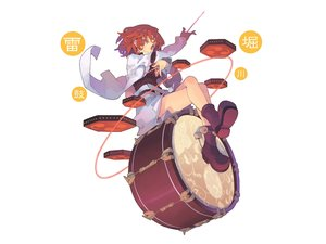 Rating: Safe Score: 62 Tags: boots drums horikawa_raiko instrument morino_hon red_eyes red_hair short_hair touhou white User: Chyllandra