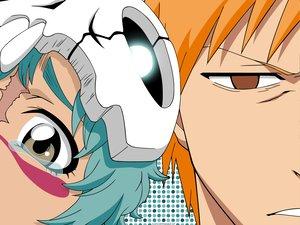 Rating: Safe Score: 21 Tags: bleach brown_eyes close crying gray_eyes kurosaki_ichigo loli male nel_tu orange_hair short_hair User: Oyashiro-sama