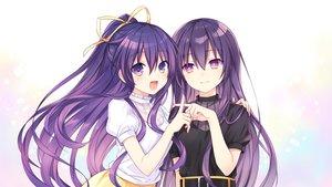 Rating: Safe Score: 61 Tags: 2girls date_a_live long_hair ponytail purple_eyes purple_hair ribbons tsunako yatogami_tohka User: mattiasc02