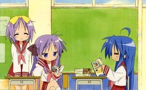 Rating: Safe Score: 19 Tags: hiiragi_kagami hiiragi_tsukasa horiguchi_yukiko izumi_konata lucky_star scan school_uniform User: Xtea