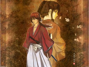 Rating: Safe Score: 3 Tags: flowers himura_kenshin japanese_clothes kamiya_kaoru rurouni_kenshin scar sword weapon User: Oyashiro-sama