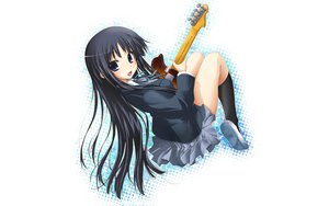 Rating: Safe Score: 32 Tags: akiyama_mio black_hair blush guitar instrument k-on! long_hair seifuku skirt User: Tensa