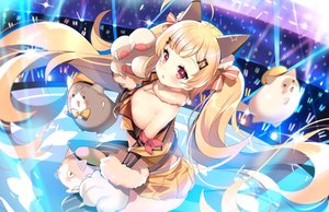 Rating: Safe Score: 84 Tags: animal animal_ears anthropomorphism azur_lane blonde_hair cat catgirl eldridge_(azur_lane) gloves kurot loli long_hair red_eyes twintails watermark User: BattlequeenYume