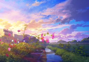Rating: Safe Score: 58 Tags: building clouds flowers grass mocha_(cotton) nobody original scenic signed sky sunset tree water User: mattiasc02