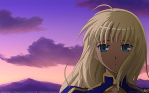 Rating: Safe Score: 15 Tags: artoria_pendragon_(all) fate_(series) fate/stay_night saber sky sunset User: 秀悟