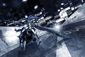 Rating: Safe Score: 135 Tags: black_rock_shooter building city gun idsuru921 kuroi_mato monochrome motorcycle weapon User: HawthorneKitty