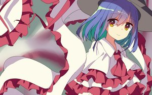 Rating: Safe Score: 17 Tags: aliasing blue_hair busujima_(kusahana) dress hat nagae_iku short_hair touhou User: mattiasc02