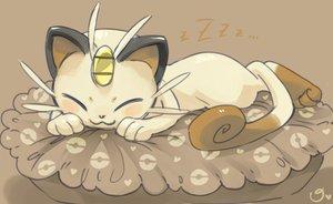 Rating: Safe Score: 50 Tags: animal cat magical_ondine meowth pokemon sleeping tail User: STORM