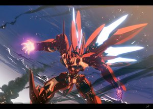 Rating: Safe Score: 128 Tags: mecha sky wadatsumi_garland xenogears User: Kulag