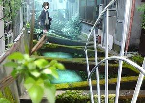 Rating: Safe Score: 31 Tags: blue_eyes brown_hair building kneehighs original ruins sakeharasu seifuku short_hair skirt tie User: RyuZU