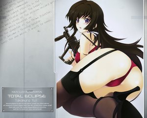 Rating: Questionable Score: 128 Tags: ass bra gun iizuki_tasuku miyata_ao muv-luv muv-luv_alternative panties takamura_yui total_eclipse underwear weapon User: rargy