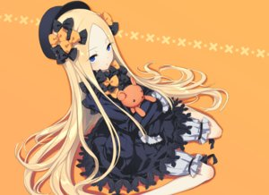 Rating: Safe Score: 41 Tags: abigail_williams_(fate/grand_order) blonde_hair bloomers blue_eyes bow dress fate/grand_order fate_(series) gothic hat long_hair orange teddy_bear waga User: otaku_emmy