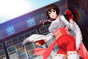 Rating: Questionable Score: 78 Tags: brown_hair gloves japanese_clothes miko musubi sekirei thighhighs User: gnarf1975