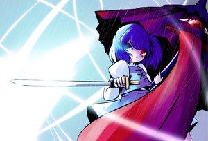 Rating: Safe Score: 20 Tags: bicolored_eyes sword tatara_kogasa touhou umbrella weapon yume_shokunin User: PAIIS