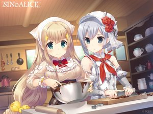 Rating: Safe Score: 52 Tags: 2girls aqua_eyes armor blonde_hair breasts chocolate food gray_eyes gray_hair hat logo long_hair rapunzel_(sinoalice) short_hair sinoalice snow_white_(sinoalice) square_enix tagme_(artist) valentine User: Nepcoheart