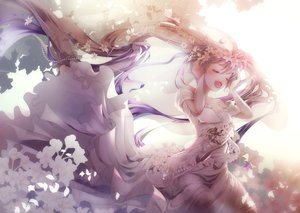 Rating: Safe Score: 46 Tags: blush dress flowers hatsune_miku long_hair petals see_through tagme_(artist) twintails vocaloid User: luckyluna