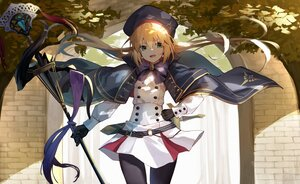 Rating: Safe Score: 62 Tags: artoria_pendragon_(caster) blonde_hair cape fate/grand_order fate_(series) green_eyes hat long_hair pantyhose ponytail shade staff yuuuuu User: BattlequeenYume