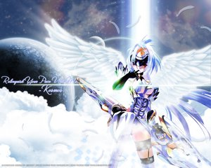 Rating: Safe Score: 53 Tags: choco chocolate_shop kos-mos mechagirl planet wings xenosaga User: Oyashiro-sama