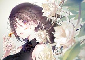 Rating: Safe Score: 64 Tags: brown_hair close fire flowers long_hair nilitsu original pink_eyes User: RyuZU
