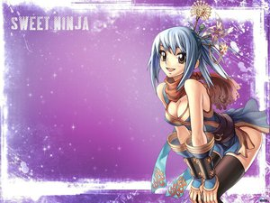 Rating: Safe Score: 38 Tags: blue_hair cleavage jpeg_artifacts ninja thighhighs User: zboy08