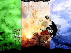 Rating: Questionable Score: 13 Tags: clouds japanese_clothes mugen samurai_champloo sky tree User: haruko02