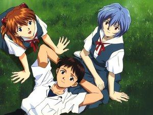 Rating: Safe Score: 3 Tags: ayanami_rei ikari_shinji neon_genesis_evangelion soryu_asuka_langley User: Miko_chan