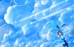 Rating: Safe Score: 78 Tags: blue bou_nin clouds long_hair original scenic sky User: Flandre93
