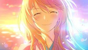 Rating: Safe Score: 114 Tags: blonde_hair blush close crying miyazono_kawori shigatsu_wa_kimi_no_uso sunset xiao_ren User: luckyluna
