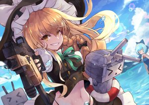Rating: Safe Score: 32 Tags: aqua_hair blonde_hair bow braids cirno crossover fairy gun hat kantai_collection kirisame_marisa long_hair navel pantie_painting rensouhou-chan short_hair touhou weapon wings witch witch_hat yellow_eyes User: RyuZU