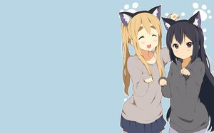Rating: Safe Score: 65 Tags: 2girls animal_ears black_hair blonde_hair blue blush brown_eyes kisuke_(akutamu) k-on! kotobuki_tsumugi long_hair nakano_azusa twintails User: RyuZU