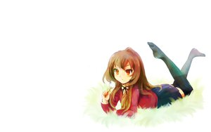 Rating: Safe Score: 67 Tags: aisaka_taiga brown_eyes brown_hair flowers grass long_hair seifuku thighhighs toradora white User: SciFi