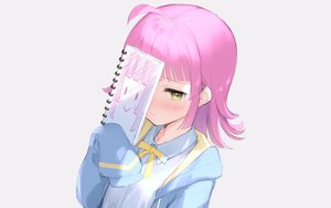 Rating: Safe Score: 43 Tags: blush gray hoodie love_live!_nijigasaki_high_school_idol_club love_live!_school_idol_project mignon paper pink_hair school_uniform short_hair sketch tennoji_rina yellow_eyes User: otaku_emmy