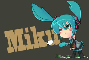 Rating: Safe Score: 60 Tags: chibi hatsune_miku twintails vocaloid User: mikulover