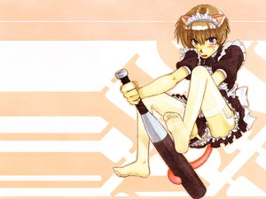 Rating: Safe Score: 27 Tags: all_male animal_ears barefoot baseball_bat blonde_hair blue_eyes blush bow cosplay garter headdress higurashi_no_naku_koro_ni maebara_keiichi maid male ribbons short_hair tail thighhighs trap User: Oyashiro-sama