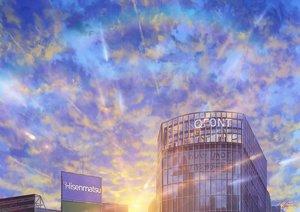 Rating: Safe Score: 30 Tags: building clouds niko_p original reflection scenic signed sky User: RyuZU