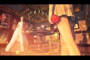 Rating: Safe Score: 30 Tags: 3d apple dress drink food fruit gloves original scenic signed yomochi User: RyuZU
