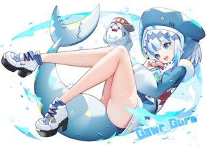 Rating: Safe Score: 42 Tags: blue_eyes food gawr_gura hololive hoodie mamuru tail white_hair User: BattlequeenYume