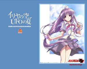 Rating: Safe Score: 2 Tags: iriya_kana iriya_no_sora_ufo_no_natsu long_hair purple_hair red_eyes school_uniform watermark User: Oyashiro-sama