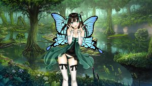 Rating: Questionable Score: 213 Tags: aqua_eyes black_hair bow butterfly cleavage fo~do long_hair panties photoshop taka_tony thighhighs underwear wings User: gnarf1975
