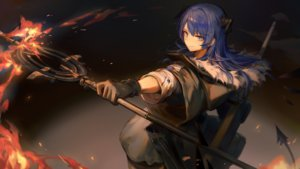 Rating: Safe Score: 37 Tags: arknights blue_eyes blue_hair fire game_cg gloves horns huanxiang_heitu long_hair mostima_(arknights) staff tail User: Nepcoheart
