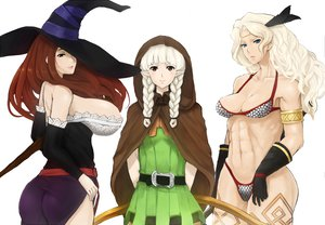 Rating: Questionable Score: 40 Tags: amazon_(dragon's_crown) ass blue_eyes breasts brown_eyes dark_skin dragon's_crown elf_(dragon's_crown) gloves pointed_ears red_hair sorceress_(dragon's_crown) white_hair witch User: Dragoonxxx
