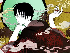 Rating: Safe Score: 15 Tags: bicolored_eyes cigarette clamp glasses watanuki_kimihiro xxxholic User: pantu