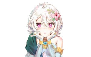 Rating: Safe Score: 101 Tags: close elbow_gloves gloves kian natsume_kokoro pointed_ears princess_connect! purple_eyes see_through short_hair white white_hair User: otaku_emmy