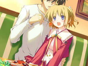 Rating: Safe Score: 0 Tags: food happy_magarette minahase_karin User: 秀悟