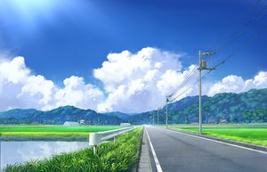 Rating: Safe Score: 92 Tags: building clouds grass landscape nobody original pei_(sumurai) reflection scenic sky water User: FormX