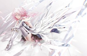Rating: Safe Score: 34 Tags: elbow_gloves gloves guilty_crown long_hair pink_eyes pink_hair skirt tanikku thighhighs yuzuriha_inori User: BattlequeenYume