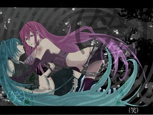 Rating: Safe Score: 40 Tags: hatsune_miku megurine_luka suzuya_(appon65122) vocaloid User: mikulover