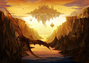 Rating: Safe Score: 143 Tags: dragon landscape scenic tagme User: Wiresetc